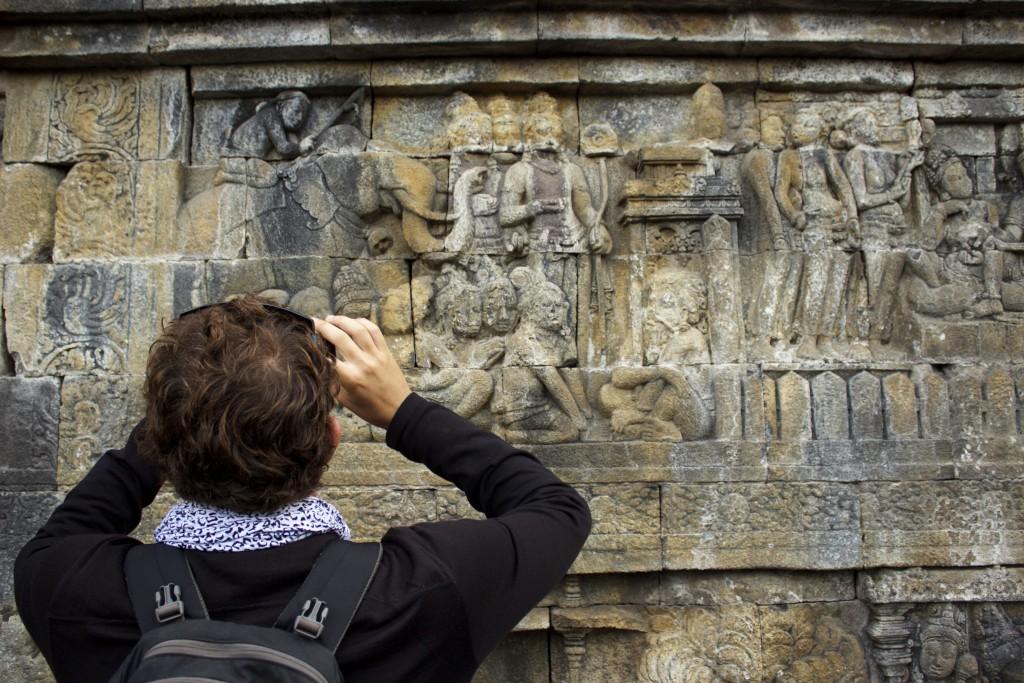 stone carvings at Borobudur