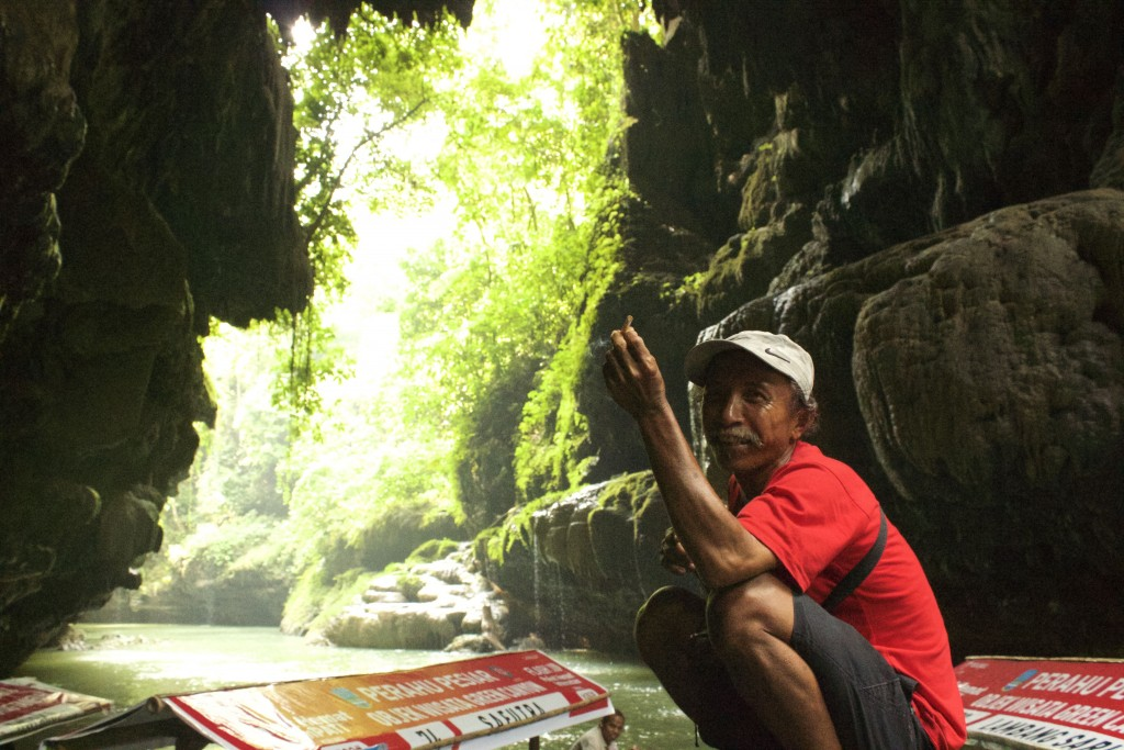 Enjoying the serenity, Green Canyon, Batukaras